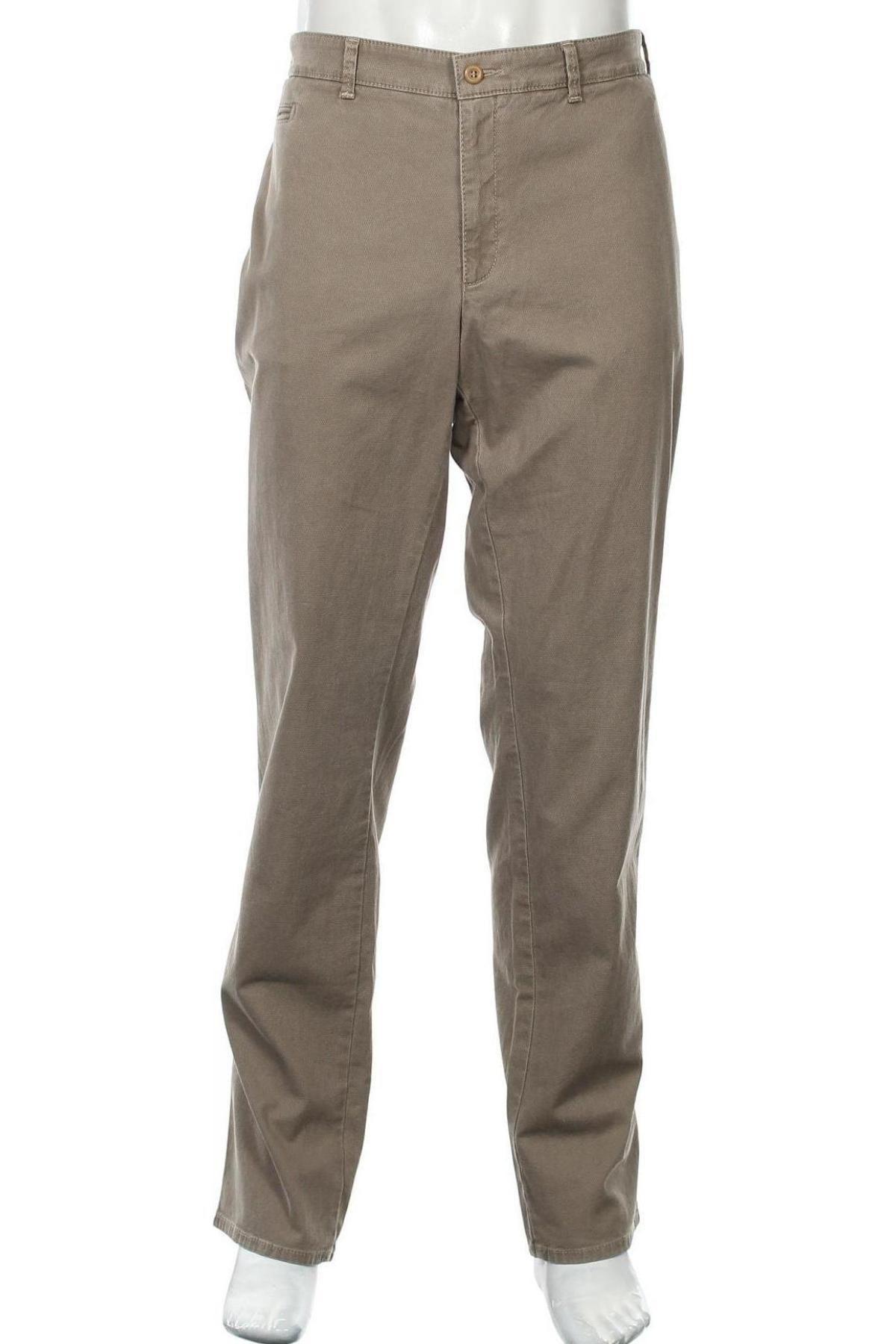 Pantaloni de bărbați Brax, Mărime XXL, Culoare Bej, 98% bumbac, 2% elastan, Preț 367,60 Lei