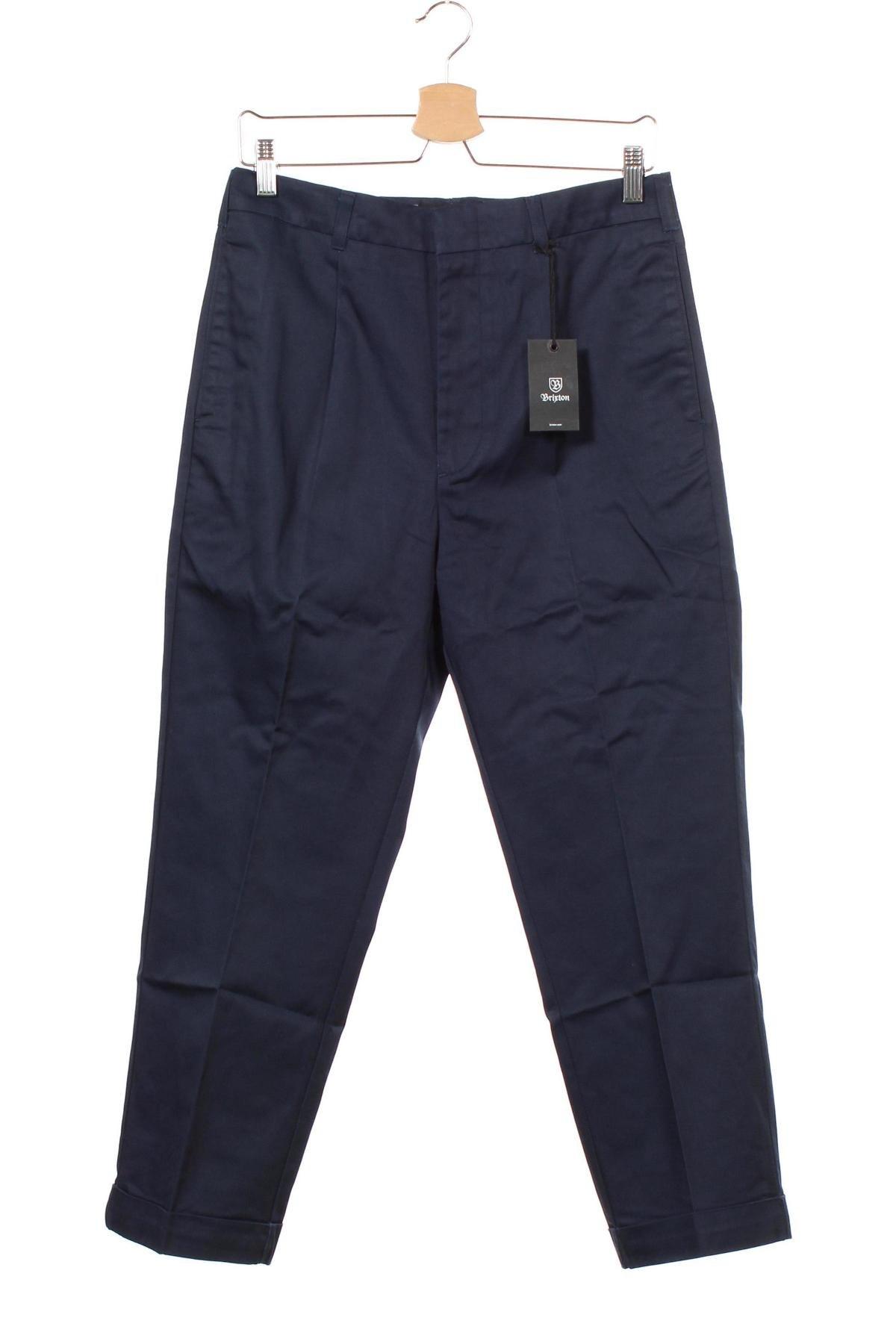 Мъжки панталон Brixton, Размер M, Цвят Син, 65% полиестер, 35% памук, Цена 23,46лв.
