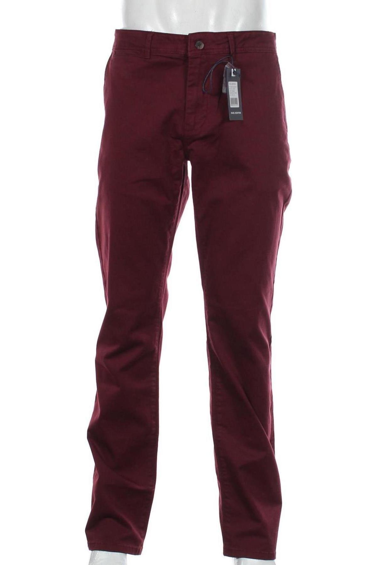 Мъжки панталон Paul Hunter, Размер XL, Цвят Червен, 97% памук, 3% еластан, Цена 28,62лв.