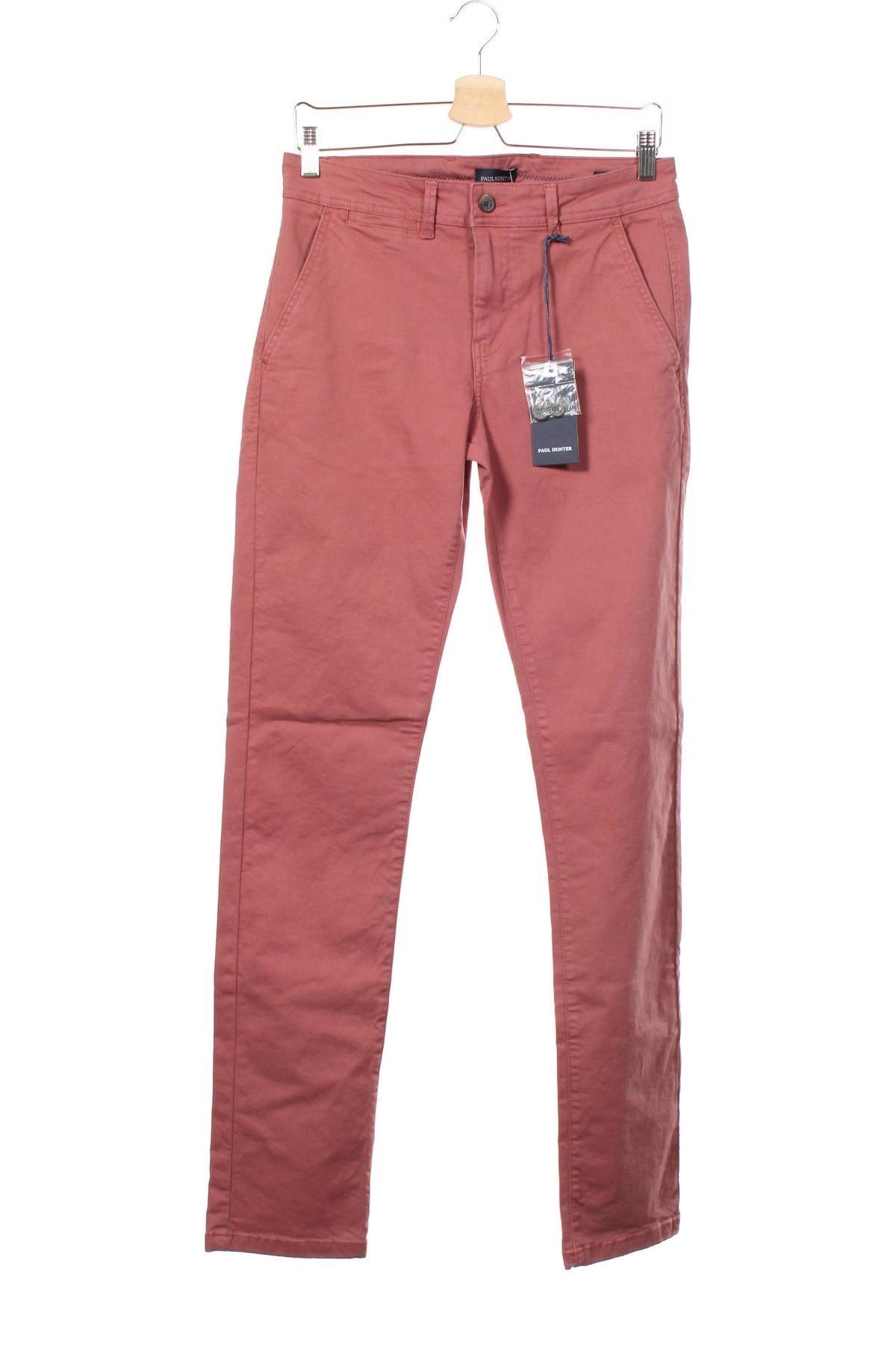 Мъжки панталон Paul Hunter, Размер S, Цвят Розов, 97% памук, 3% еластан, Цена 27,03лв.