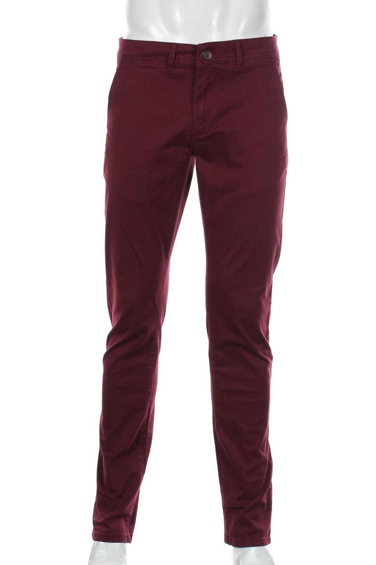 Мъжки панталон Paul Hunter, Размер M, Цвят Червен, 97% памук, 3% еластан, Цена 28,62лв.