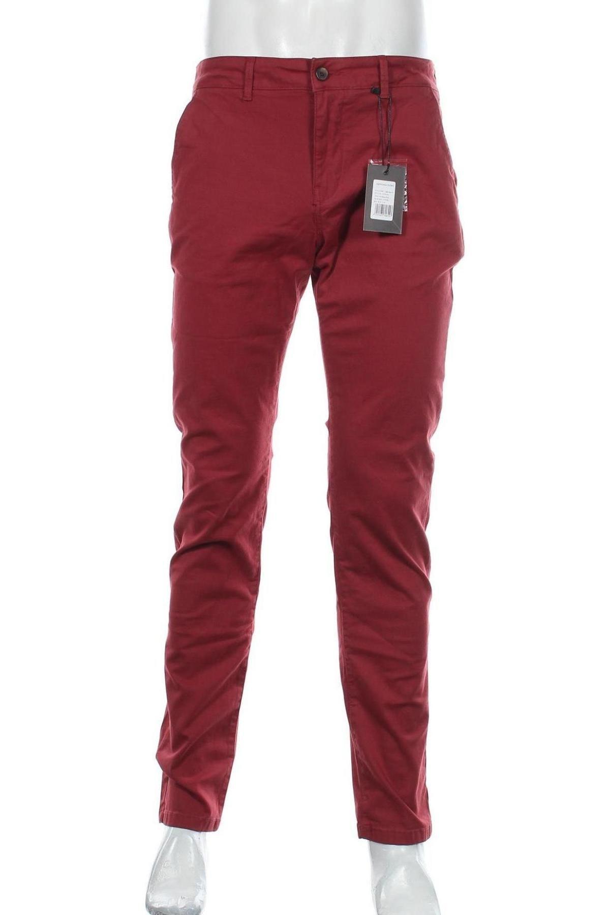 Мъжки панталон Sondag & Sons, Размер M, Цвят Червен, 97% памук, 3% еластан, Цена 22,35лв.