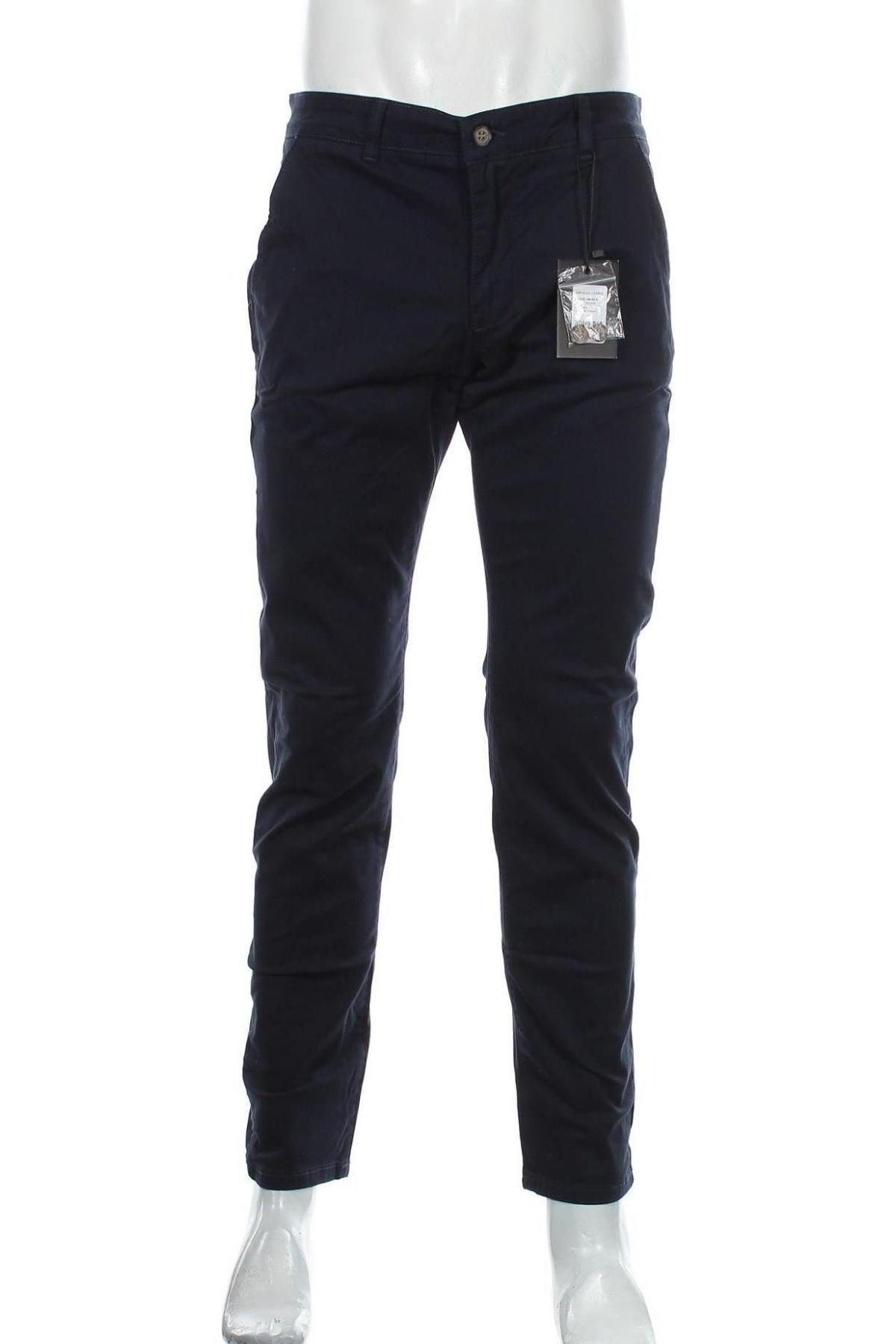 Мъжки панталон Sondag & Sons, Размер M, Цвят Син, 98% памук, 2% еластан, Цена 51,75лв.