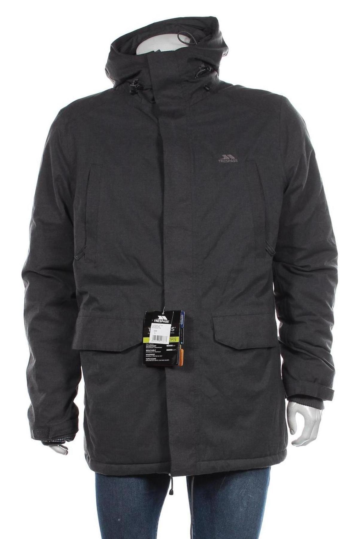 Мъжко спортно яке Trespass, Размер L, Цвят Сив, Полиестер, Цена 159,00лв.
