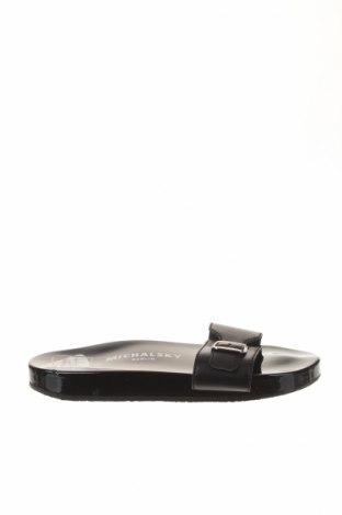 Papuci de casă Michalsky, Mărime 36, Culoare Negru, Piele naturală, Preț 94,45 Lei