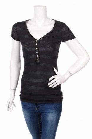 Дамска блуза American Eagle, Размер M, Цвят Черен, 64% памук, 36% модал, Цена 7,60лв.