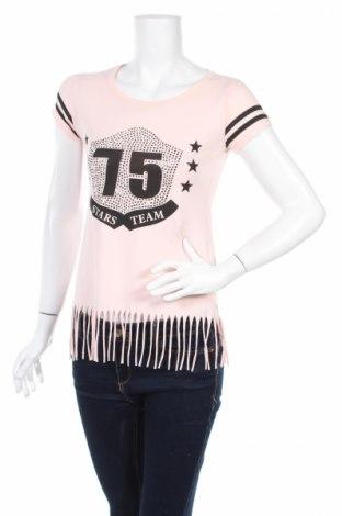 Дамска блуза Derek Heart, Размер S, Цвят Многоцветен, 95% памук, 5% еластан, Цена 4,80лв.