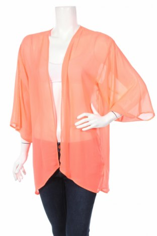 Дамска жилетка H&M Divided, Размер S, Цвят Оранжев, 100% полиестер, Цена 22,95лв.