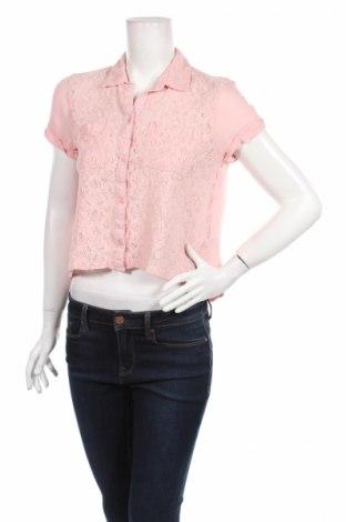 Дамска риза Abercrombie & Fitch, Размер S, Цвят Розов, Вискоза, Цена 13,60лв.