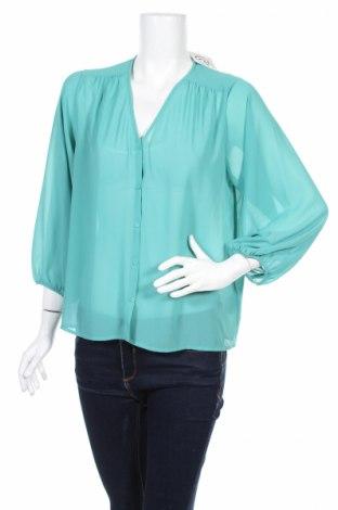 Дамска риза H&M, Размер XS, Цвят Син, Полиестер, Цена 23,80лв.