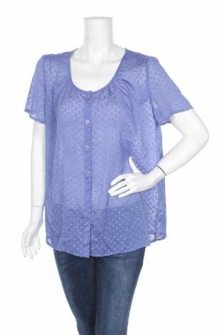 Γυναικείο πουκάμισο Susan Graver, Μέγεθος L, Χρώμα Μπλέ, Πολυεστέρας, Τιμή 3,27€