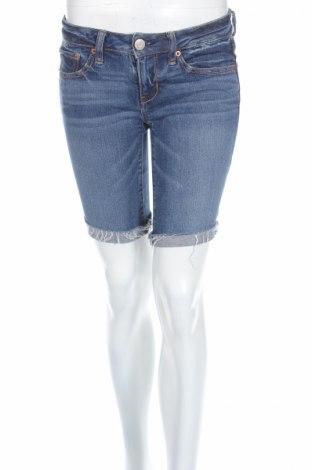 Дамски къс панталон American Eagle, Размер S, Цвят Син, 99% памук, 1% еластан, Цена 8,00лв.