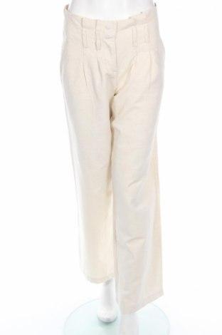 Дамски панталон Marella Sport, Размер L, Цвят Бежов, 77% памук, 23% лен, Цена 44,85лв.