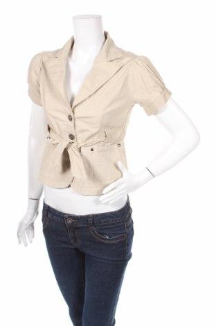 Дамско сако, Размер S, Цвят Бежов, 95% памук, 5% еластан, Цена 5,40лв.