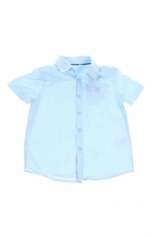 Детска риза H&M, Размер 3-4y/ 104-110 см, Цвят Син, 100% памук, Цена 11,20лв.
