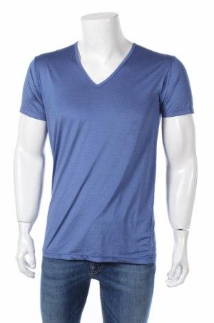 Pánské tričko  Uniqlo, Rozměr M, Barva Modrá, 87% polyester, 13% elastan, Cena  100,00Kč