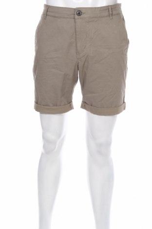 Мъжки къс панталон Selected Homme, Размер L, Цвят Зелен, 98% памук, 2% еластан, Цена 22,75лв.