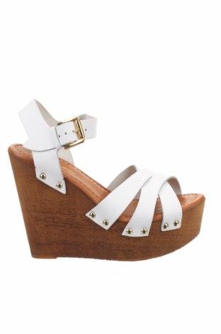 Sandále Blu Byblos, Veľkosť 37, Farba Biela, Pravá koža , Cena  26,81€