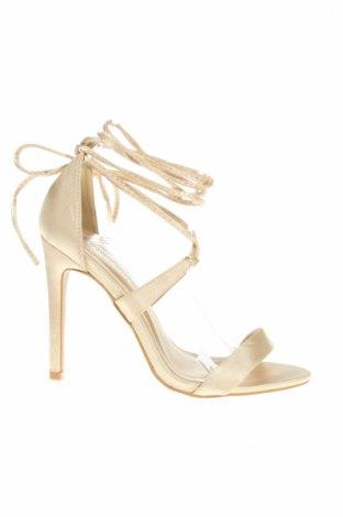 Sandale Glamorous, Mărime 38, Culoare Bej, Textil, Preț 49,63 Lei