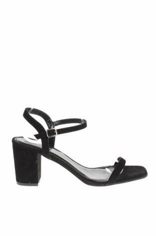 Sandale Glamorous, Mărime 41, Culoare Negru, Textil, Preț 47,41 Lei
