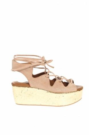 Sandále See By Chloe, Veľkosť 36, Farba Béžová, Prírodný velur , Cena  63,66€