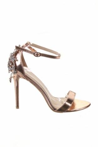 Sandale True Decadence, Mărime 41, Culoare Auriu, Piele ecologică, Preț 48,15 Lei