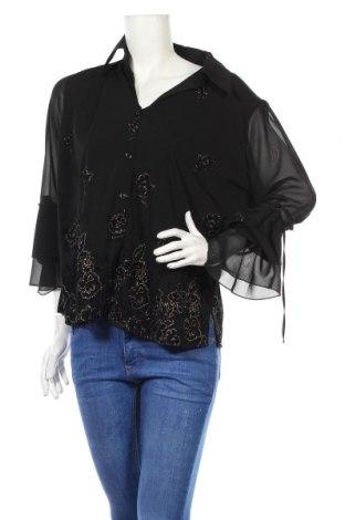 Дамска риза, Размер XXL, Цвят Черен, Полиестер, вискоза, Цена 11,56лв.