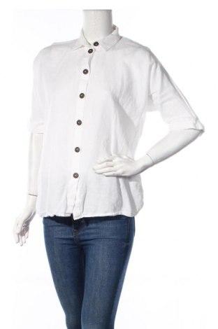 Γυναικείο πουκάμισο Esprit, Μέγεθος S, Χρώμα Λευκό, 52% βαμβάκι, 48% λινό, Τιμή 20,63€