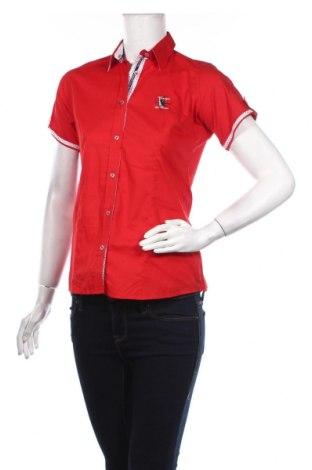 Дамска риза Giorgio Di Mare, Размер S, Цвят Червен, 95% памук, 5% еластан, Цена 57,85лв.