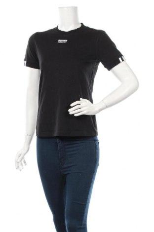 Дамска тениска Adidas, Размер XS, Цвят Черен, Памук, Цена 17,25лв.