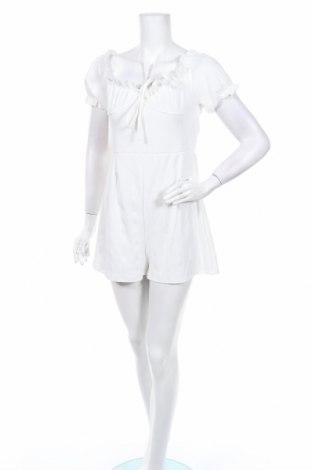 Дамски гащеризон Boohoo, Размер M, Цвят Бял, 95% полиестер, 5% еластан, Цена 33,00лв.