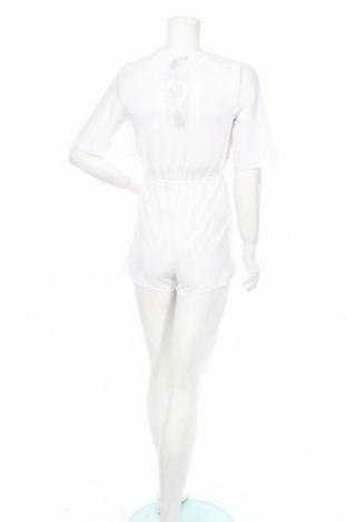 Дамски гащеризон Boohoo, Размер S, Цвят Бял, 100% полиестер, Цена 6,60лв.