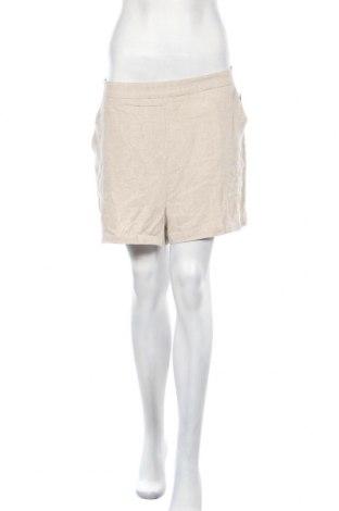 Γυναικείο κοντό παντελόνι Nly Trend, Μέγεθος L, Χρώμα  Μπέζ, 70% λινό, 30% βισκόζη, Τιμή 13,61€