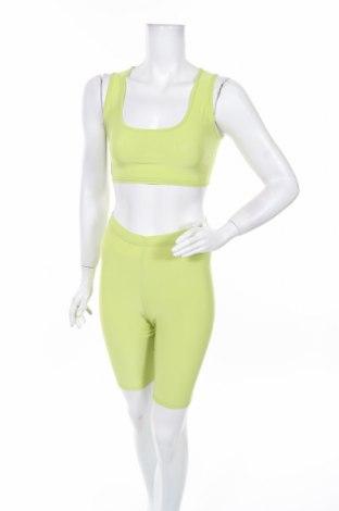 Дамски комплект Boohoo, Размер XS, Цвят Зелен, 95% полиестер, 5% еластан, Цена 27,84лв.
