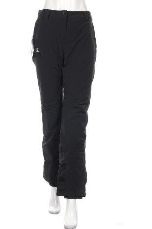 Дамски панталон за зимни спортове Salomon, Размер L, Цвят Черен, 89% полиамид, 11% еластан, Цена 134,25лв.