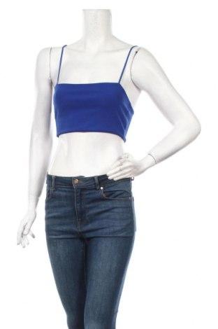 Γυναικείο αμάνικο μπλουζάκι Boohoo, Μέγεθος XS, Χρώμα Μπλέ, 95% πολυεστέρας, 5% ελαστάνη, Τιμή 5,67€