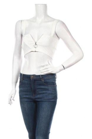 Γυναικείο αμάνικο μπλουζάκι Boohoo, Μέγεθος S, Χρώμα Λευκό, 95% πολυεστέρας, 5% ελαστάνη, Τιμή 6,70€