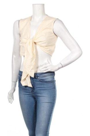 Γυναικείο αμάνικο μπλουζάκι Nasty Gal, Μέγεθος M, Χρώμα  Μπέζ, Βαμβάκι, Τιμή 5,76€