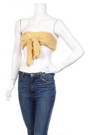 Γυναικείο αμάνικο μπλουζάκι Nasty Gal, Μέγεθος M, Χρώμα Κίτρινο, Βισκόζη, Τιμή 5,76€