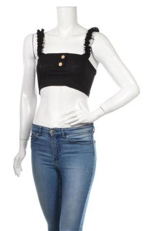 Γυναικείο αμάνικο μπλουζάκι Nasty Gal, Μέγεθος XXS, Χρώμα Μαύρο, 95% πολυεστέρας, 5% ελαστάνη, Τιμή 5,76€