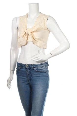 Γυναικείο αμάνικο μπλουζάκι Nasty Gal, Μέγεθος M, Χρώμα Εκρού, Βαμβάκι, Τιμή 5,76€