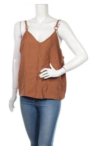 Γυναικείο αμάνικο μπλουζάκι Nasty Gal, Μέγεθος XL, Χρώμα Καφέ, 90% βισκόζη, 10% ελαστάνη, Τιμή 5,76€