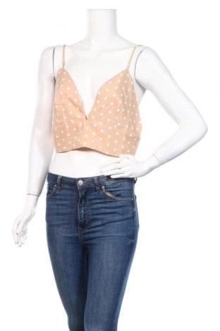 Γυναικείο αμάνικο μπλουζάκι Nasty Gal, Μέγεθος L, Χρώμα  Μπέζ, 98% πολυεστέρας, 2% ελαστάνη, Τιμή 5,76€