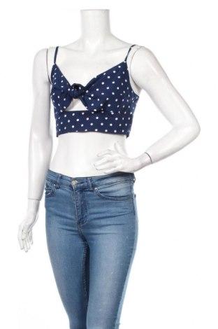 Γυναικείο αμάνικο μπλουζάκι Nasty Gal, Μέγεθος M, Χρώμα Μπλέ, Πολυεστέρας, Τιμή 5,76€