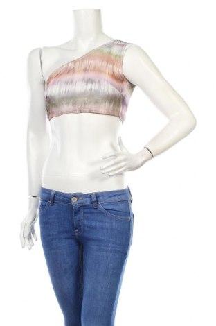 Γυναικείο αμάνικο μπλουζάκι Nasty Gal, Μέγεθος XS, Χρώμα Πολύχρωμο, 95% πολυεστέρας, 5% ελαστάνη, Τιμή 5,32€