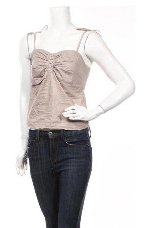 Γυναικείο αμάνικο μπλουζάκι Wood Wood, Μέγεθος S, Χρώμα  Μπέζ, 98% βαμβάκι, 2% πολυουρεθάνης, Τιμή 7,79€