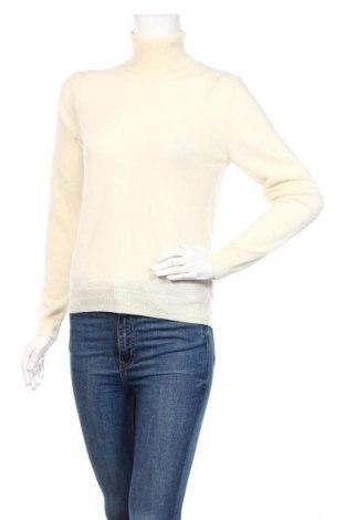 Damski sweter United Colors Of Benetton, Rozmiar S, Kolor ecru, Wełna, Cena 160,00zł
