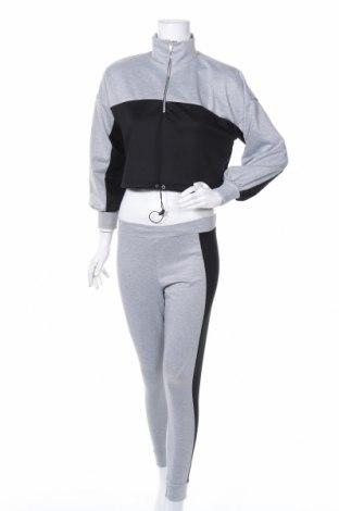 Дамски спортен комплект Missguided, Размер XXS, Цвят Сив, 95% полиестер, 5% еластан, Цена 39,00лв.