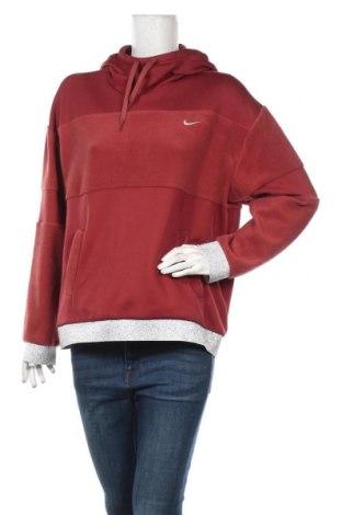 Дамски суичър Nike, Размер M, Цвят Червен, 55% полиестер, 36% полиамид, 9% еластан, Цена 56,07лв.