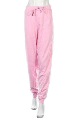 Дамско спортно долнище Boohoo, Размер XL, Цвят Розов, 50% полиестер, 50% памук, Цена 27,00лв.